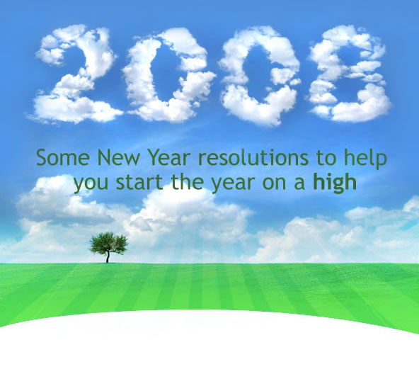 Some New Year resolutions to help you start the year on a high